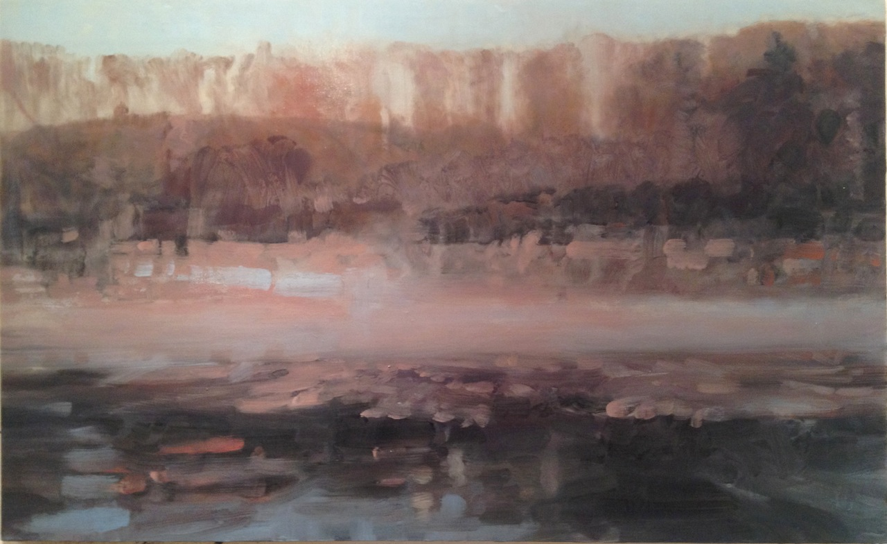 Ice and Fog on the Youghiogheny River by Dean Dass 						at Les Yeux du Monde Art Gallery