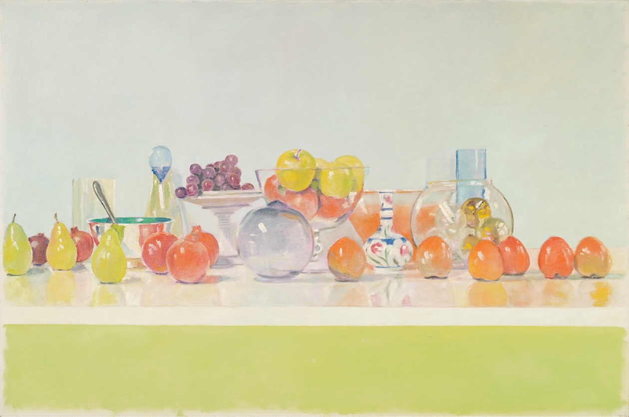 Happy Still Life: Katya's Bubble with Six Persimmons  						at Les Yeux du Monde Art Gallery
