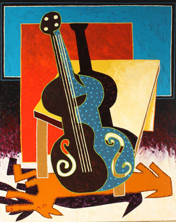 Still Life with Cello by Russ Warren at Les Yeux du Monde Gallery